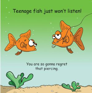 TW321 Funny Card - Teenage Fish